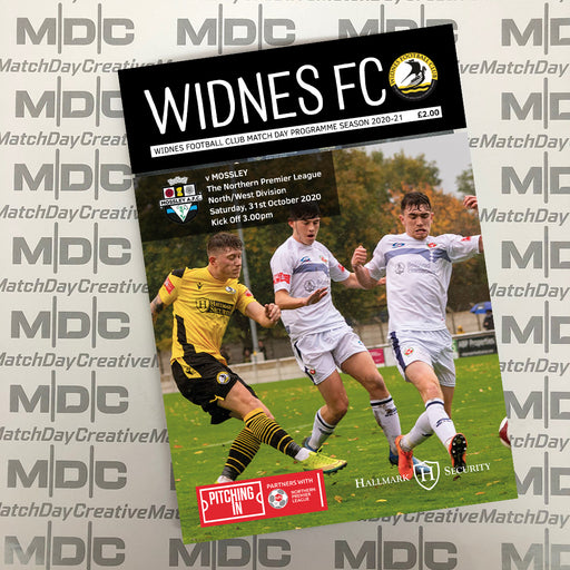 Widnes v Mossley Programme