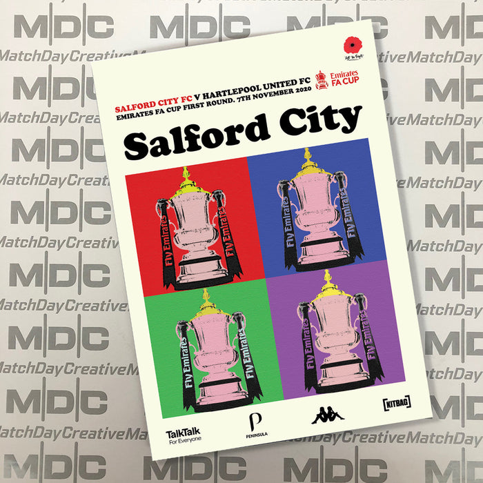 Salford City v Hartlepool United FA Cup Programme