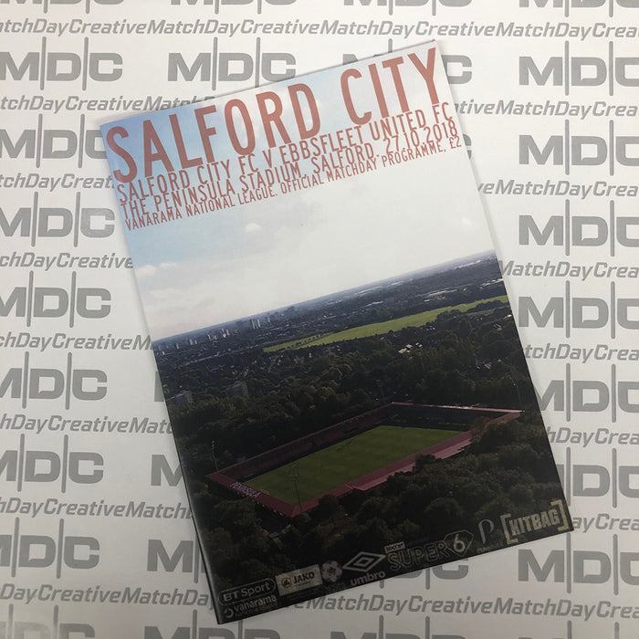2018/19 #10 Salford City v Ebbsfleet United National League 27.10.18 Programme
