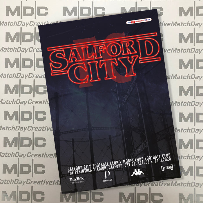 2020/21 #10 Salford City v Morecambe SkyBet League 2 24.11.20 Programme