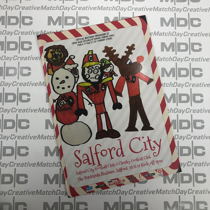 2017/18 #13 Salford City v Chorley National League North 23.12.17 Programme
