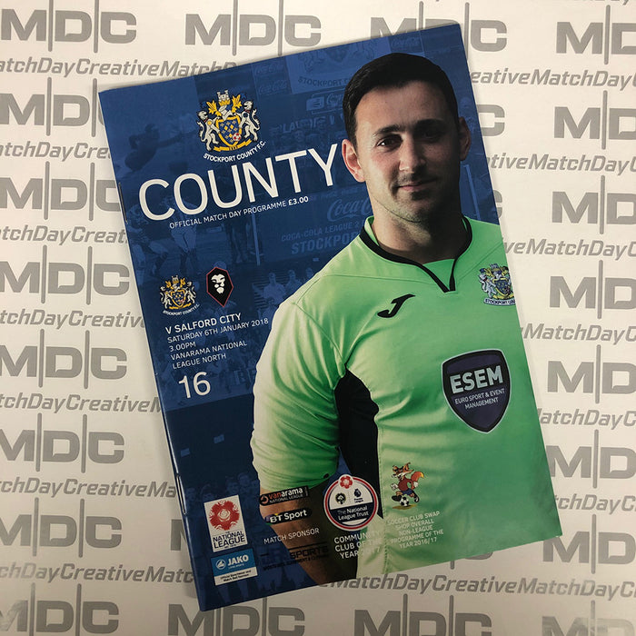 Stockport County v Salford City Programme