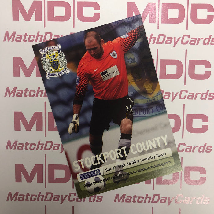 2011-12 03 Stockport County Matt Glennon Match Day Card