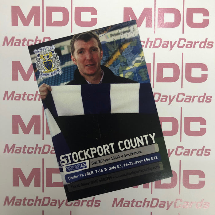 2011-12 08 Stockport County Jim Gannon Match Day Card