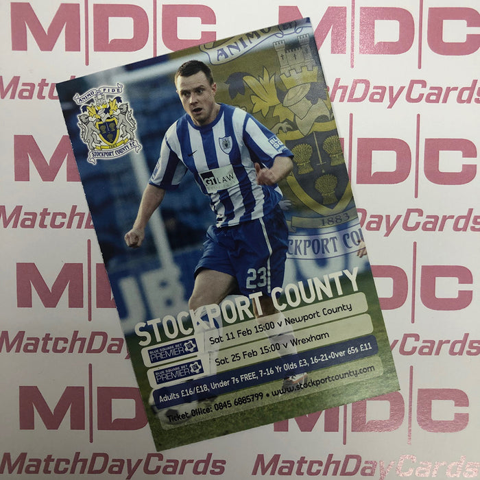 2011-12 12 Stockport County Paul Turnbull Match Day Card