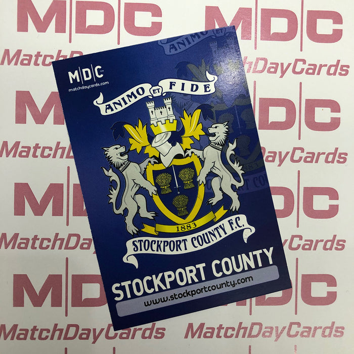 Stockport County Crest Trading Card