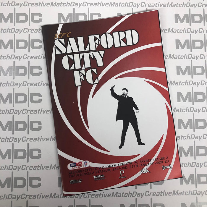 2019/20 #21 Salford City v Oldham Athletic SkyBet League 2 25.01.20 Programme