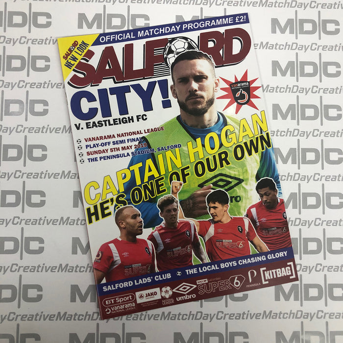 2018/19 #30 Salford City v Eastleigh National League Playoff Semi Final 05.05.19 Programme