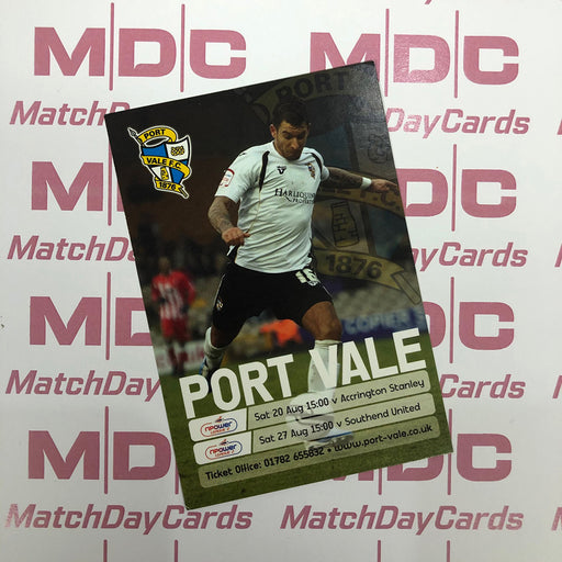 Port Vale v Accrington Stanley and v Southend United Trading Card