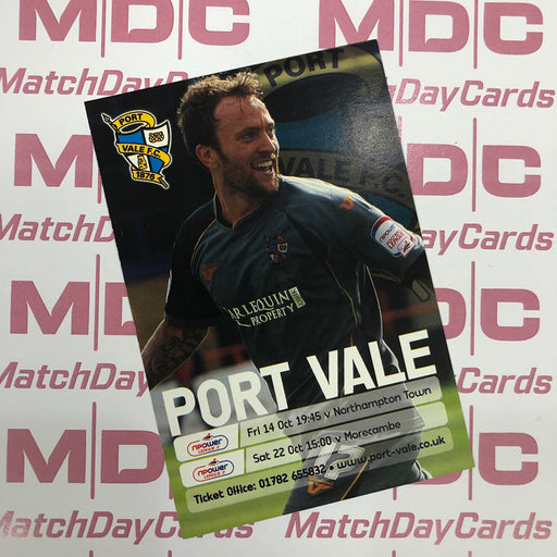 Port Vale v Northampton Town and v Morecambe Trading Card