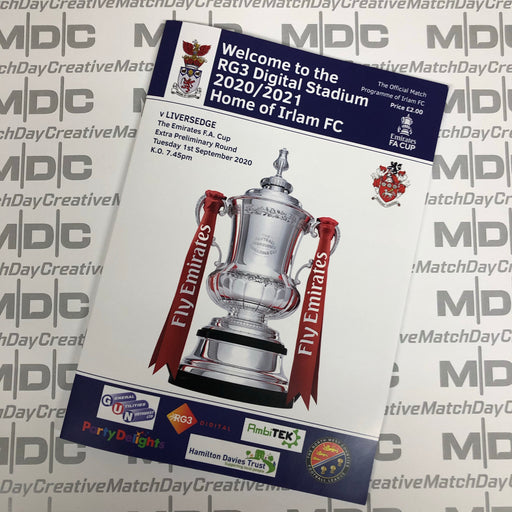 Irlam v Liversedge FA Cup Programme