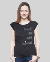 "Laden Sie das Bild in den Galerie-Viewer, Bamboo Shirt Black ""Oldschool"""