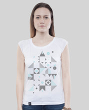 "Laden Sie das Bild in den Galerie-Viewer, Bamboo Shirt White ""Blocks"""
