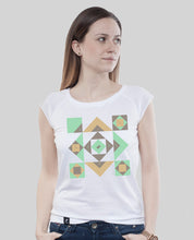 "Laden Sie das Bild in den Galerie-Viewer, Bamboo Shirt White ""Squared"""