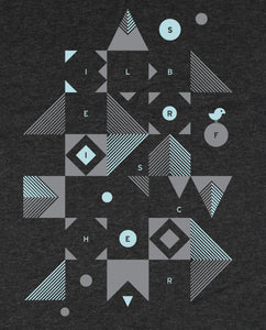 "Bio T-Shirt Dark Heather Grey ""Blocks"""