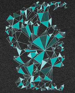 "Bio T-Shirt Dark Heather Grey ""Crystal"""