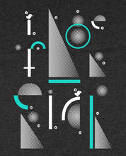 "Laden Sie das Bild in den Galerie-Viewer, Bio T-Shirt Dark Heather Grey ""Geometric"""