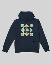 "Laden Sie das Bild in den Galerie-Viewer, Unisex Hoodie Navy ""Squared"""