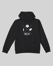 "Laden Sie das Bild in den Galerie-Viewer, Unisex Hoodie Black ""Hipster"""