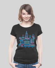 "Laden Sie das Bild in den Galerie-Viewer, Low Cut  Shirt Dark Heather Black ""B-Town"""