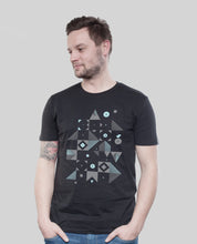 "Laden Sie das Bild in den Galerie-Viewer, Bio T-Shirt Black ""Blocks"""