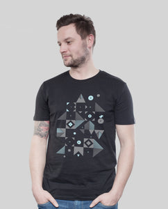 "Bio T-Shirt Black ""Blocks"""