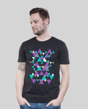 "Laden Sie das Bild in den Galerie-Viewer, Bio T-Shirt Black ""Triangle"""