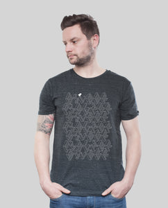 "Bio T-Shirt Dark Heather Grey ""ASCII"""