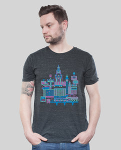 "Bio T-Shirt Dark Heather Grey ""B-Town"""
