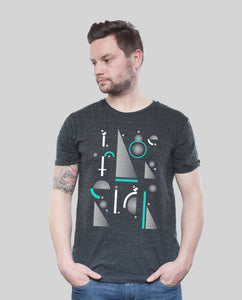 "Bio T-Shirt Dark Heather Grey ""Geometric"""