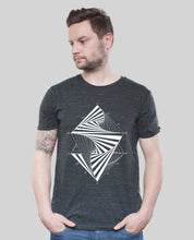 "Laden Sie das Bild in den Galerie-Viewer, Bio T-Shirt Dark Heather Grey ""Paradox"""