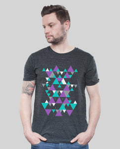 "Bio T-Shirt Dark Heather Grey ""Triangle"""