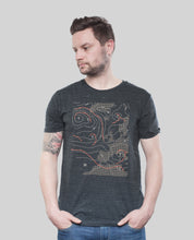"Laden Sie das Bild in den Galerie-Viewer, Bio T-Shirt Dark Heather Grey ""Weather"""
