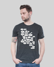 "Laden Sie das Bild in den Galerie-Viewer, Bio T-Shirt Dark Heather Grey ""Whatsup"""