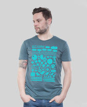 "Laden Sie das Bild in den Galerie-Viewer, Bio T-Shirt Denim ""Heile Welt"""