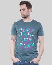 "Laden Sie das Bild in den Galerie-Viewer, Bio T-Shirt Denim ""Triangle"""