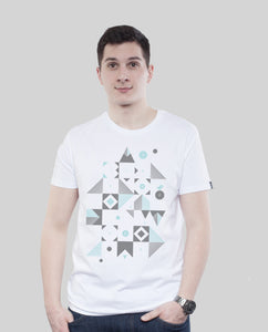 "Bio T-Shirt White ""Blocks"""