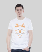"Laden Sie das Bild in den Galerie-Viewer, Bio T-Shirt White ""Sam Fux"""