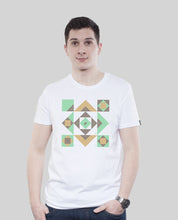"Laden Sie das Bild in den Galerie-Viewer, Bio T-Shirt White ""Squared"""
