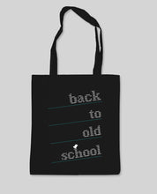 "Laden Sie das Bild in den Galerie-Viewer, Bio Shopping Bag Black ""Oldschool"""