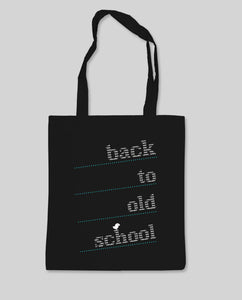 "Bio Shopping Bag Black ""Oldschool"""