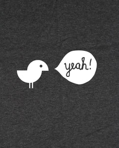 "Bio T-Shirt Dark Heather Grey ""Birdy Yeah"""