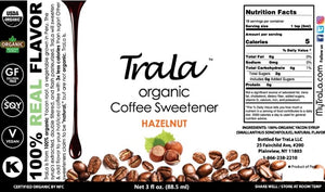 TraLa Organic Coffee Sweetener HAZELNUT
