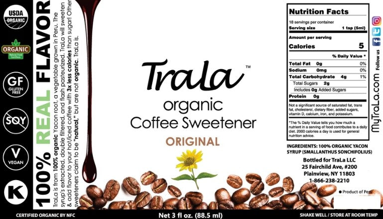 TraLa Organic Coffee Sweetener ORIGINAL FLAVOR