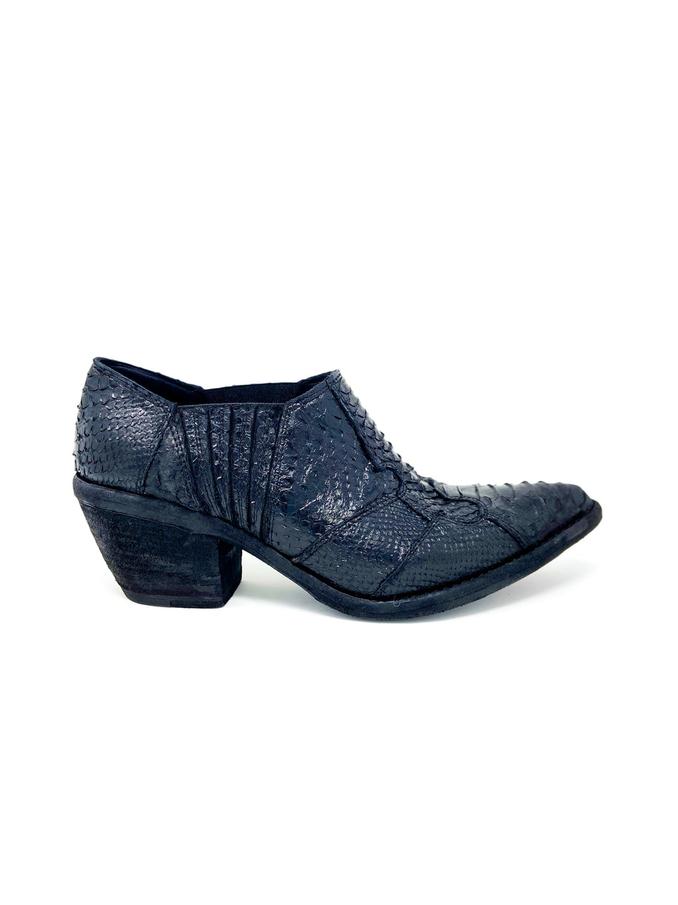 ANKLE BOOT CUTTED PYTHON