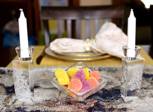 Candy Dish with Swarovski Crystals (small) - The Jewish Kitchen