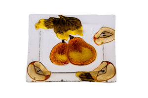 Autumn Pears Glass Platter - The Jewish Kitchen