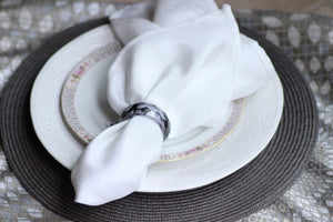 Smoke Glass Napkin Rings, Set of 4 - The Jewish Kitchen