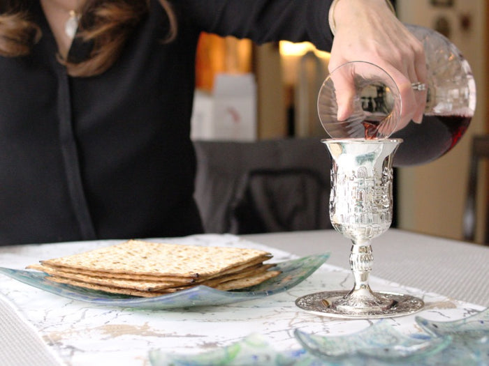 Jerusalem Kiddush Cup & Tray