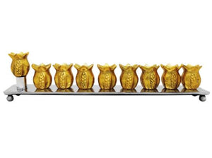 Yair Emanuel Gold Pomegranate Menorah